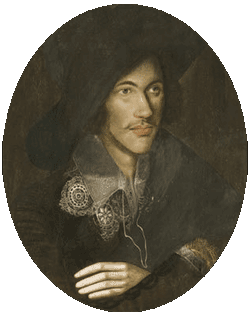 poet John Donne as young man in large floppy hat