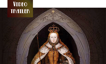 young Tudor princess framed by arch and stars, the coronation Elizabeth I
