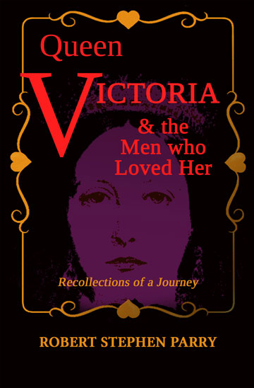 Victoria book with black backgound and red lettering