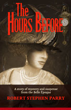 book cover shows elegant woman in hat, dark backgound