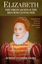 book cover, small, with image of Queen Elizabeth I of England