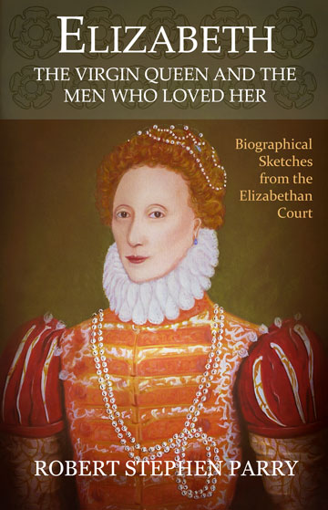 cover art shows portrait, head and shoulders, of Elizabeth I as queen