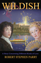 small book cover showing Georgian-era couple with fireworks
