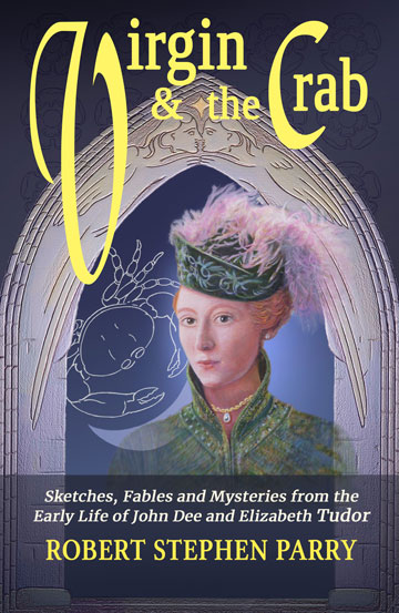book cover shows a young Elizabeth Tudor in tunic and bonnet